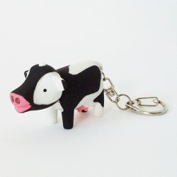 Cow Light Key Chain